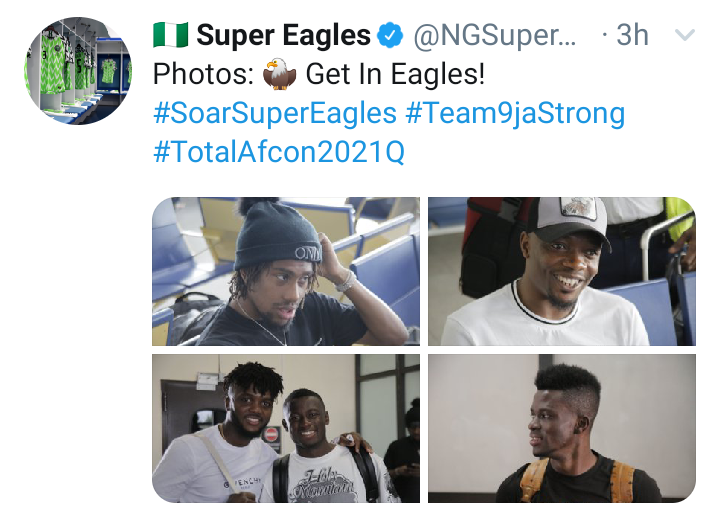 Ahmed Musa, Iwobi, Wilfred Ndidi, Ajayi and 5 others arrive Uyo for Super Eagles AFCON Qualifier against Benin