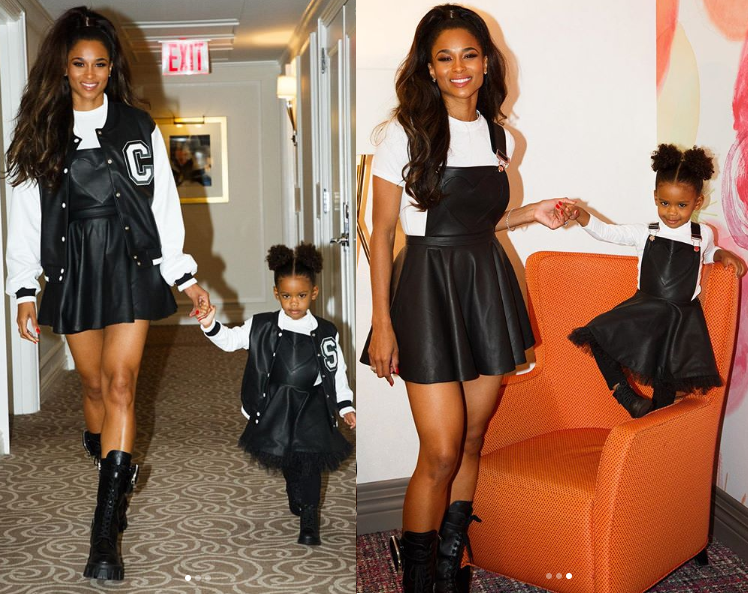 Stunning new photos of Ciara and her daughter Sienna rocking matching outfits