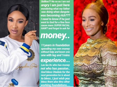 What was my father doing when Dangote was becoming rich? - Tonto Dikeh reacts to Otedola