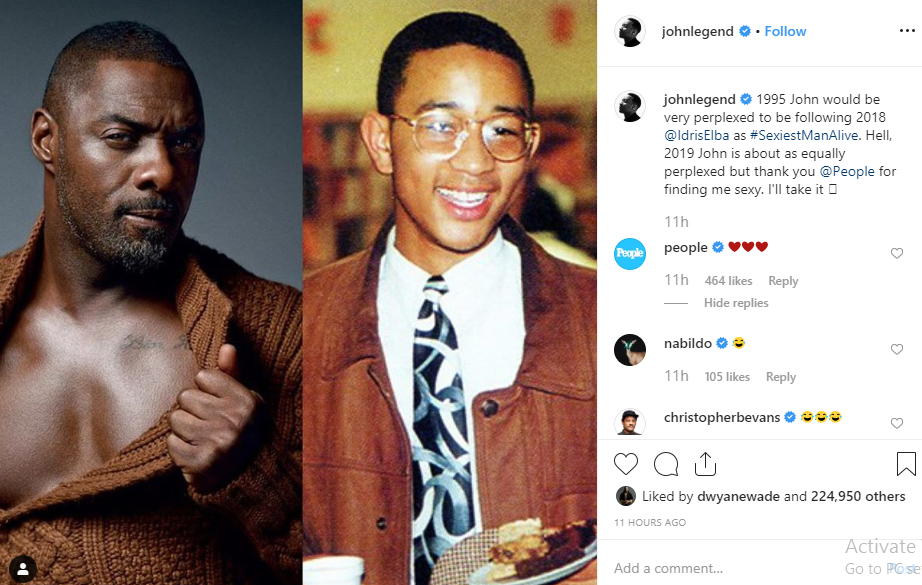 John Legend named 2019