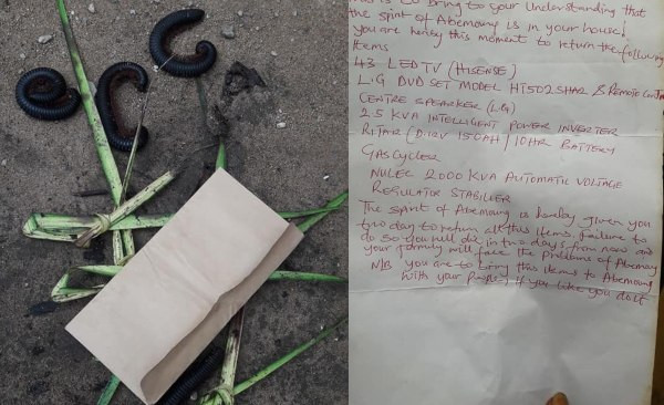 Akwa Ibom thief was visited by over 500 millipedes and given a