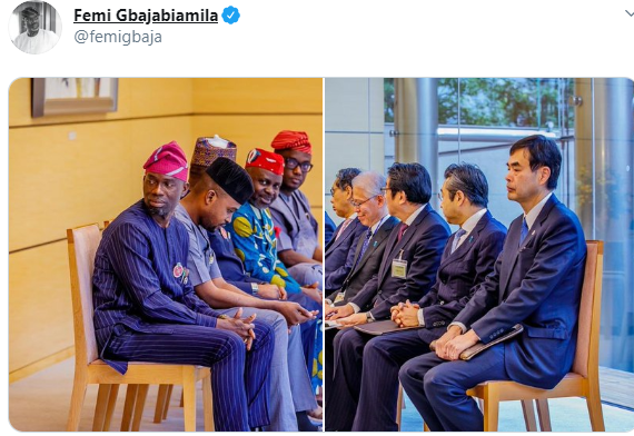 Image result for ''You all look unserious''- Nigerians react to photos of House of Rep members meeting with Japanese government officials without pen and notepads