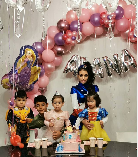 Photos from Cristiano Ronaldo's daughter Alana Martina's superhero-themed birthday