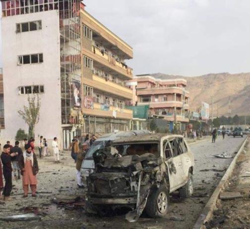 Car bomb kills at least 7 civilians near Interior Ministry in Kabul