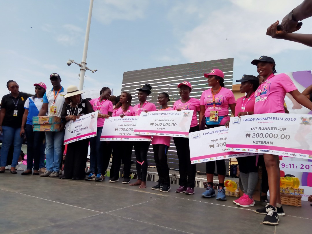 Bet9ja applauds participants at Lagos Women Run 2019