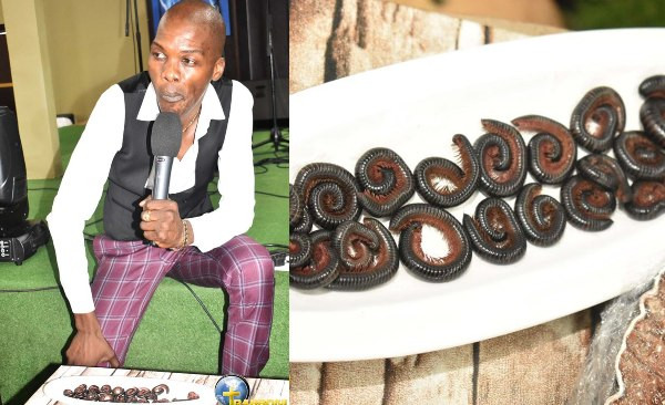 Pastor feeds his church members millipede and beer