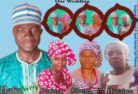 Man set to marry 3 women on same day (see wedding invitation)