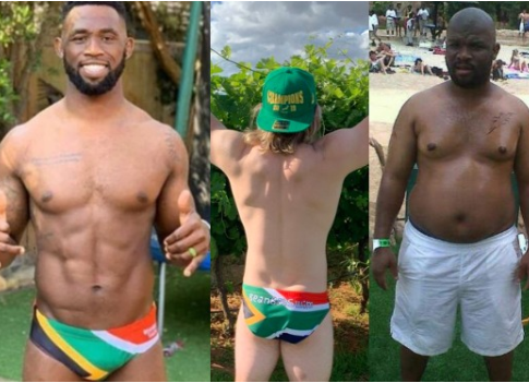 #FafChallenge:?South African men strip down to their underwear to raise awareness about testicular cancer (Photos)