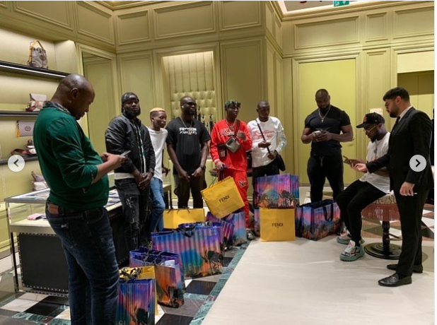Davido takes his whole squad shopping in Dubai (Photos)