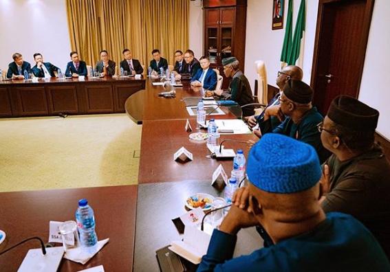 Photos: VP Yemi Osinbajo receives Ali-Baba chairman, Jack Ma at the Presidential Villa, Abuja
