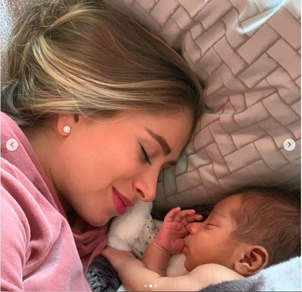 Paul Pogba and his partner Maria Zulay Salaues reveal their son