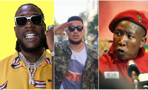 Go and demand for apology from your real enemies - Burna Boy tells AKA and others as he acknowledges Julius Malema's protection assurance