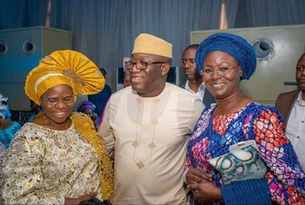 Photos: Putting their political differences aside, Ekiti state gov, Kayode Fayemi, attends wedding of his predecessor, Ayo Fayose