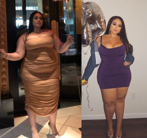 Photos: Lady gives herself the 'perfect' 25th birthday gift by losing 55-pounds in body weight