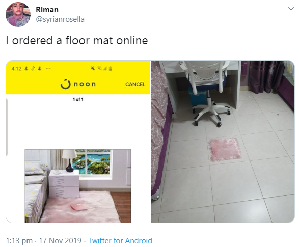 Epic shopping fail! See what a woman got when she ordered a floor mat online