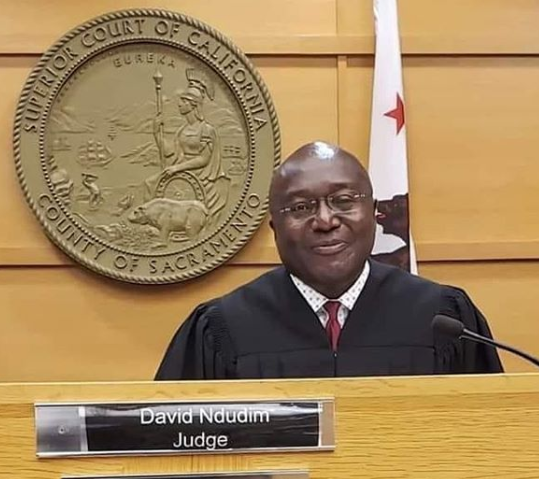 David Ndudim, Nigerian born lawyer named judge of the superior court of California