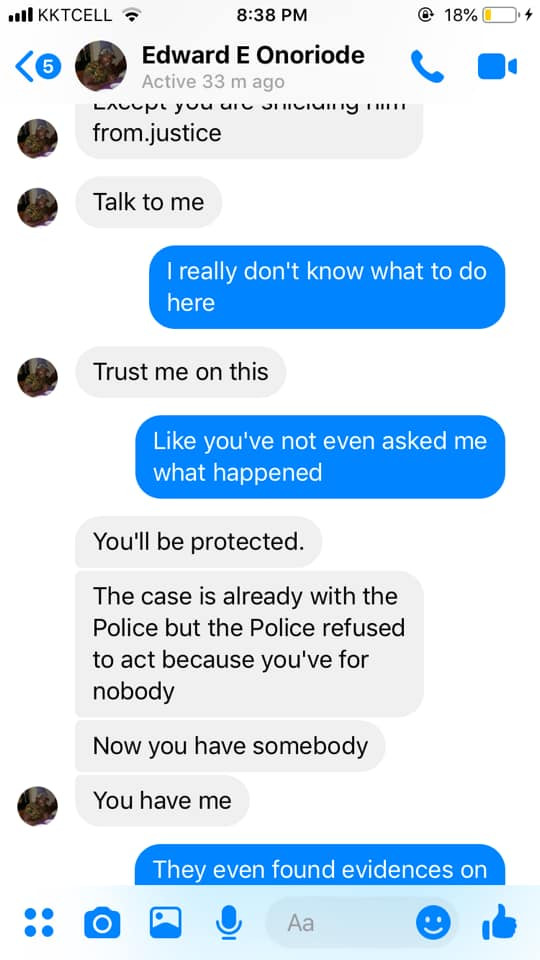 Nigerian lady calls out the police for allegedly letting her attacker walk free 3 years after he allegedly tried slitting her throat with a knife