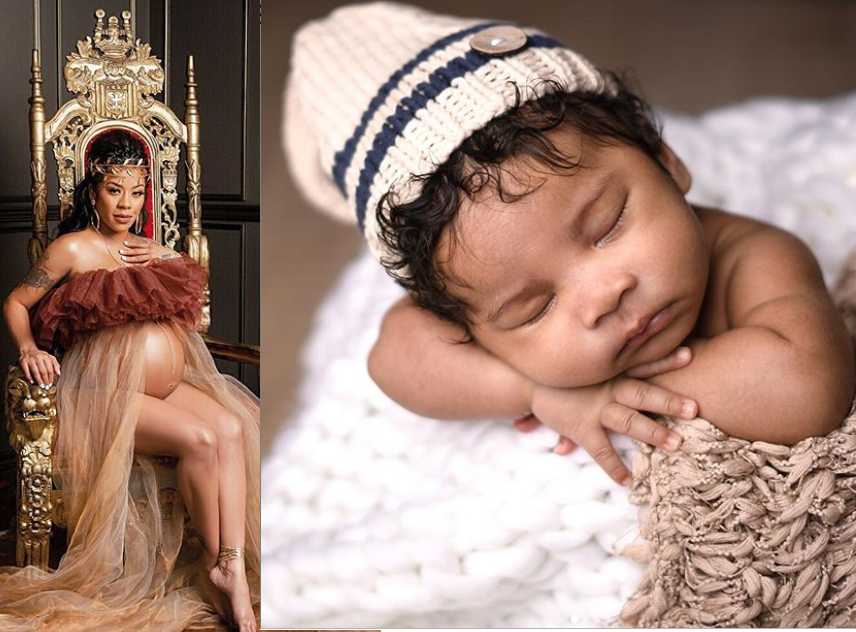 ?Keyshia Cole shares adorable photos of her son as she reveals his face for the first time (Photos)