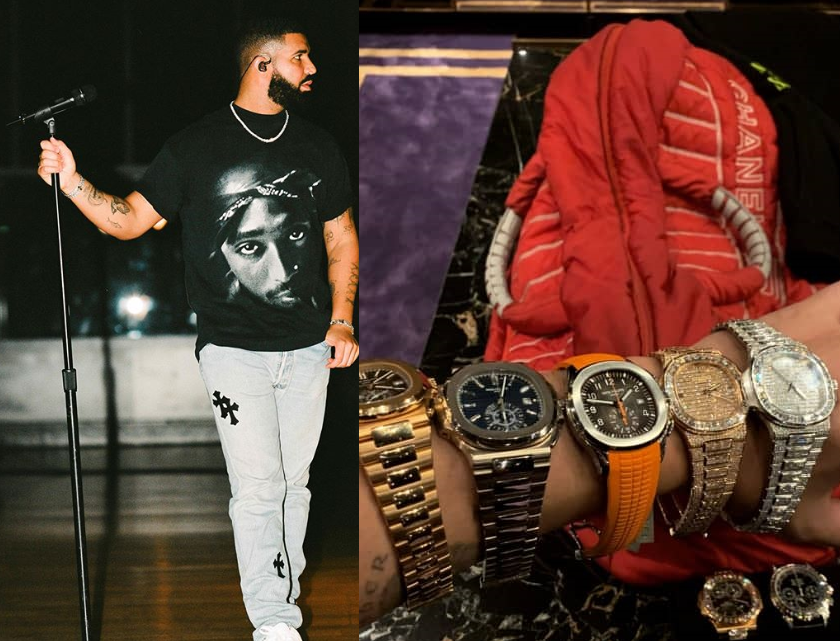 Auto DraftDrake shows off some of his watch collection on Instagram (Photo)