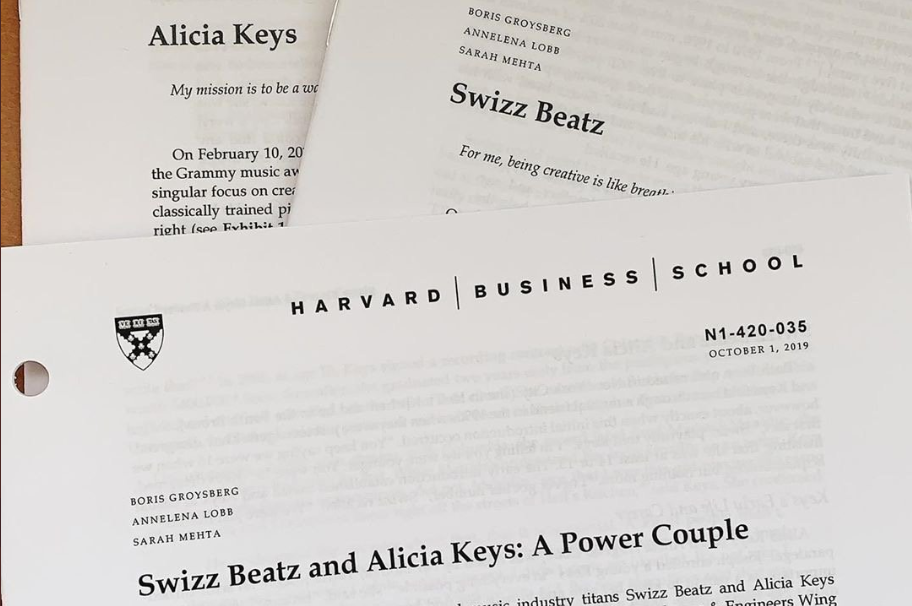 Power couple, Alicia Keys and Swizz Beatz presented a case study on their lives at Harvard Business School