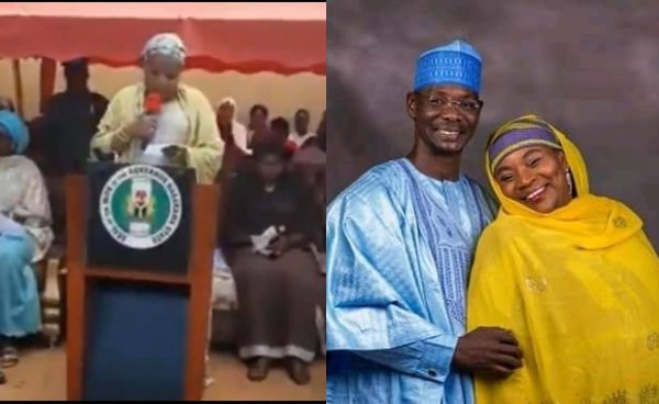 Video of Nasarawa First Lady having issues reading her speech in English goes viral