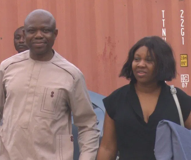 Photo: Ex-banker Rowley Isioro and wife?jailed for money laundering in Lagos