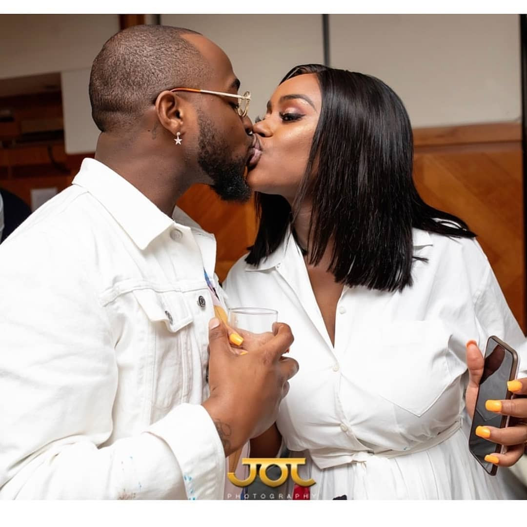 Loved up photos of Davido and his fiancee, Chioma