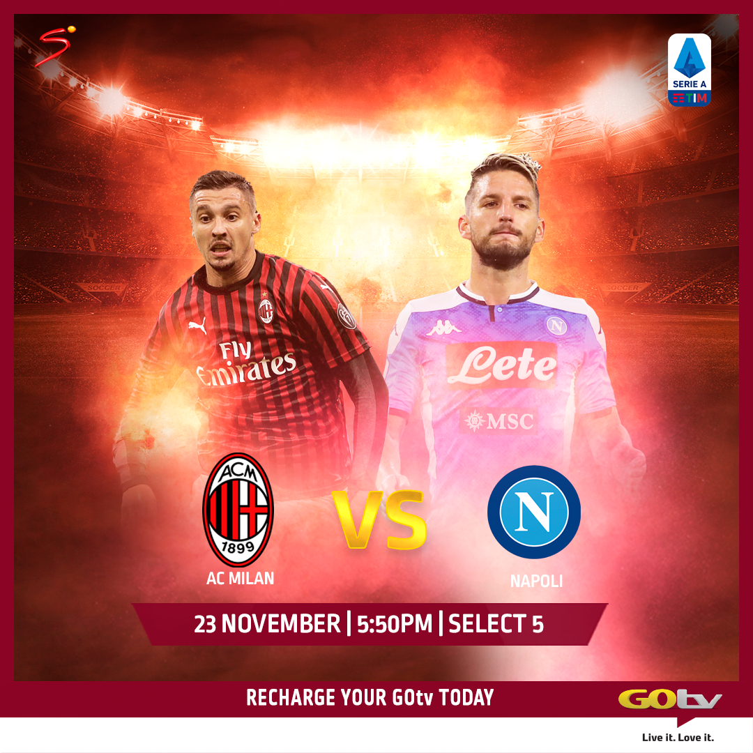 #HotOnGOtv: AC Milan vs Napoli, #BamTeddy Wedding Special, AFRIMA Plus New Series on Zee World, E!