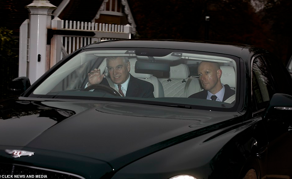 Prince Andrew seen heading for meeting with his mother, Queen Elizabeth after she sacked him from royal duties in wake of Jeffrey Epstein scandal