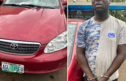 Hit and run driver arrested after Lagos residents who witnessed the accident gave chase and supplied his information to the police