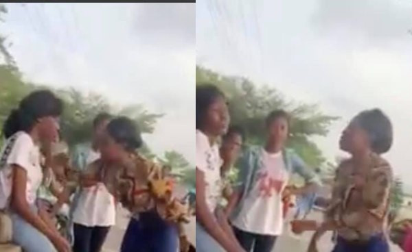 Polytechnic of Ibadan student confronts schoolmate for allegedly flirting with her boyfriend and it was almost messy (video)