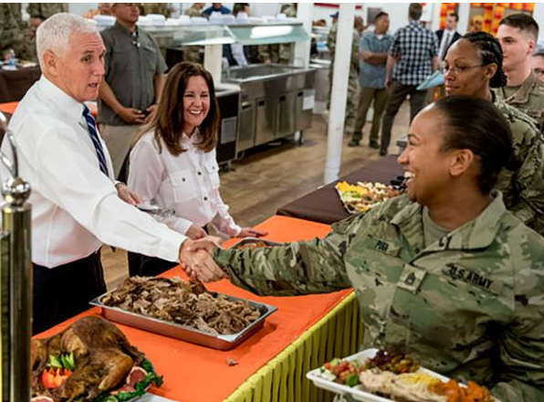 US Vice President Mike Pence makes unannounced trip to Iraq (Photos)