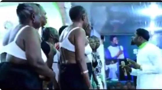 Pastor assembles half-naked women to pray in his church where a 1-year-old child got missing in Akure (video)