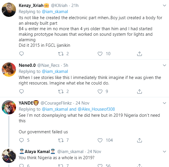 """Mixed reactions as a police officer shares photo of a boy, 15, who made a wooden fan and asked Nigerians to """"make him known to the world"""""""