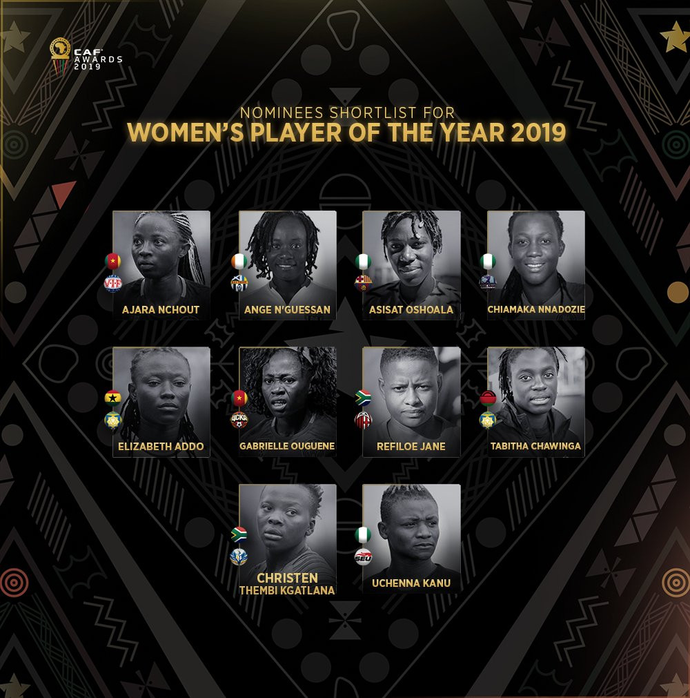 Asisat, Chiamaka and Uchenna nominated for 2019 African Women?s Player of the Year award