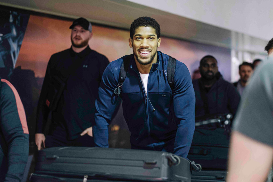 See the gym and stadium specially built for Anthony Joshua