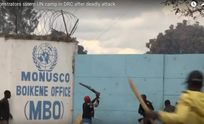 Protesters storm United Nations base and burn Mayor's office in DR Congo after armed group killed 8 people