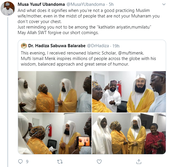 """You?re not a good practicing Muslim"" Muslim man calls out Deputy Governor of Kaduna state, Dr. Hadiza Balarabe for not"