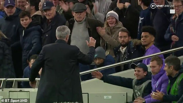 UEFA Champions League : Jose Mourinho thanks ball boy after he helped Tottenham come from behind to beat Olympiacos 4-2