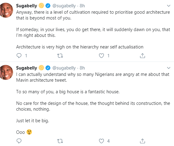 """Nigerians call out Sugabelly for saying the """"Mavin buildings are so hideously ugly"""" weeks after saying Pete Edochie is a """"bad actor"""""""