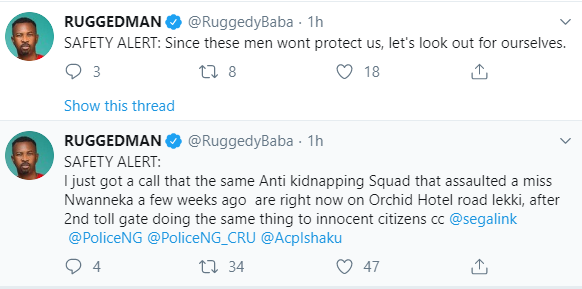 Ruggedman claims the Anti kidnapping Squad that allegedly assaulted businesswoman, Miz Nwanneka weeks ago were at a Lekki hotel doing same to other innocent citizens
