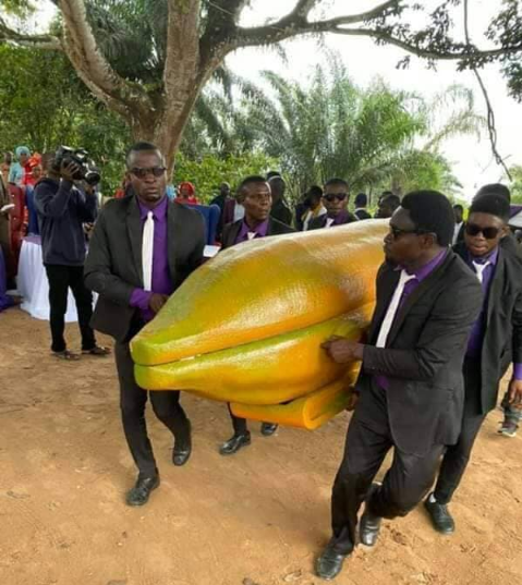 Actress/evangelist, Helen Ukpabio buries her father in pawpaw-shaped casket in Akwa Ibom state