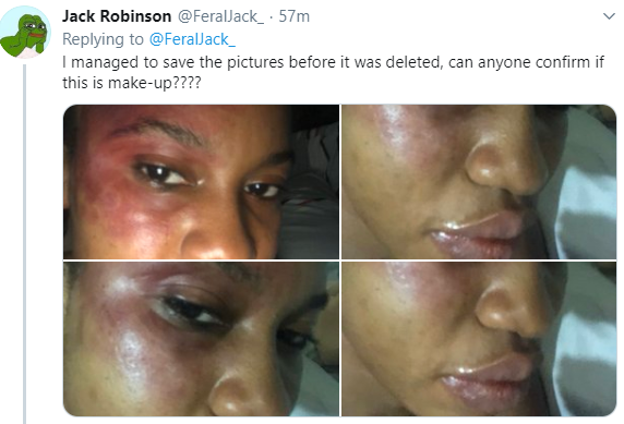 Nigerian lady who shared photos of her