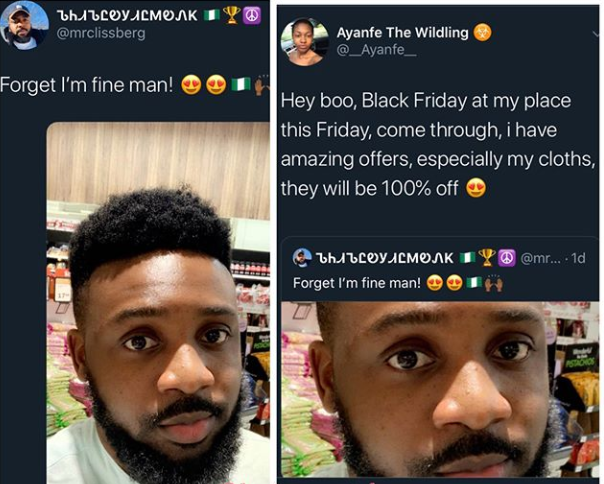 Nigerian lady shoots her shot at a