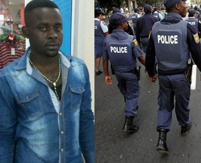 South African police officer found guilty of killing Nigerian man