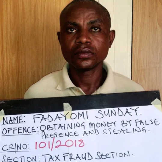 Ex-banker, Sunday Fadayomi jailed six years for stealing N11m (Photo)