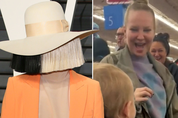 Sia takes off her famous wig to pay for everyone