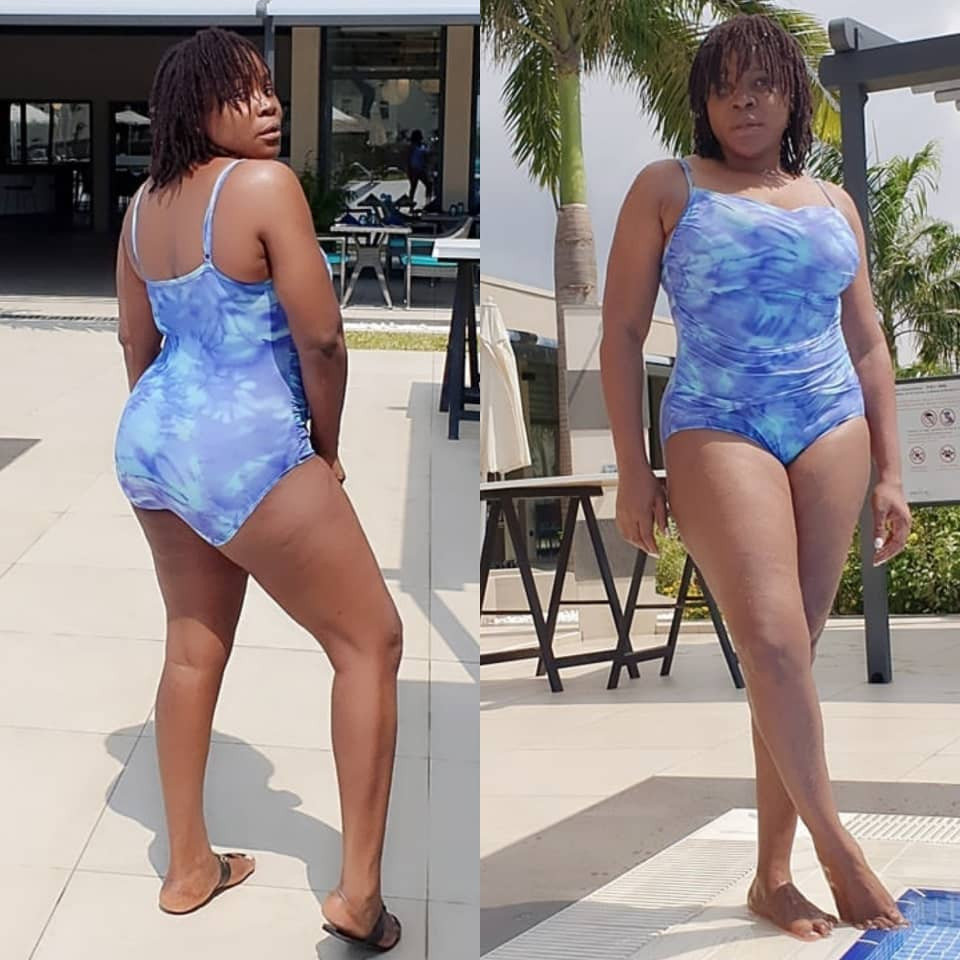 Omawumi tensions IG withe rare swimwear photos