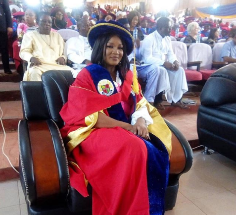 Nollywood actress, Omotola Jalade honoured with a Doctorate?degree by Igbinedion University (Photo)