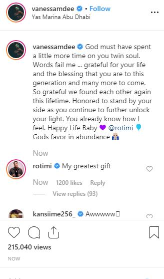 Rotimi addresses Vanessa Mdee as his
